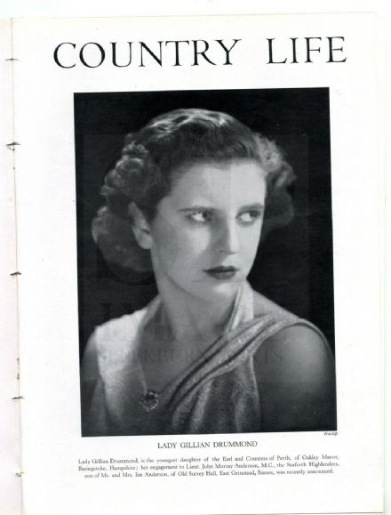 1945 COUNTRY LIFE Magazine GILLIAN DRUMMOND ANDERSON Culzean Castle BYRON SCREEN Osbaldeston (0552)
